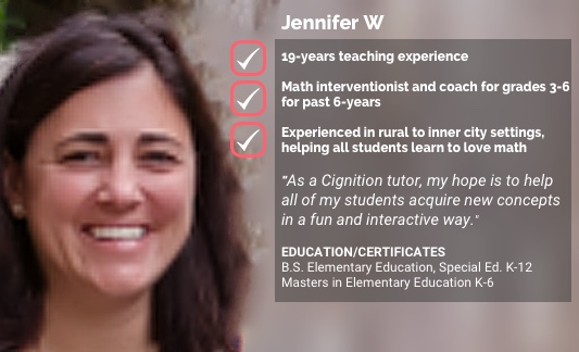 Cignition tutor Jennifer W