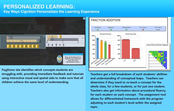 Personalize learning in FogStone Isle