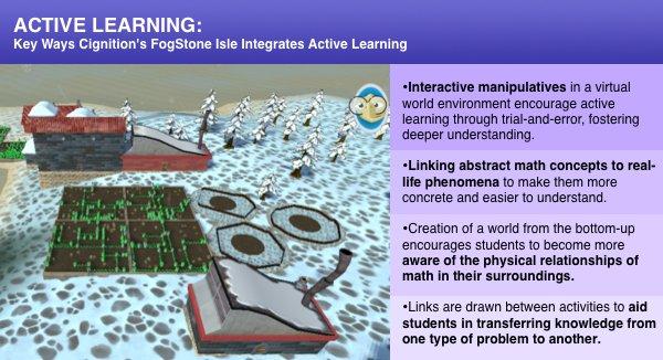 Active math learning in FogStone Isle