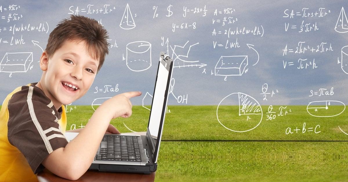 Boy Succeeding in Math